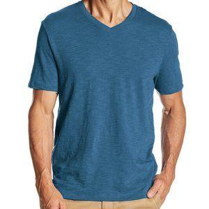 VINCE Short Sleeve V-Neck Blue Tee Shirt – Size XL